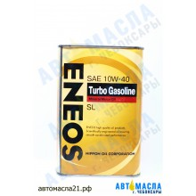 Масло моторное ENEOS Turbo GASOLINE мин 10w40 1л (SL/A3/GF-3)