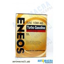 Масло моторное ENEOS Turbo GASOLINE мин 10w40 4л (SL/A3/GF-3)