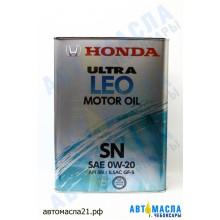 Масло моторное HONDA Motor Oil 0W20 SN Ultra LEO 4л