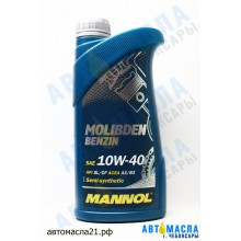 Масло моторное Mannol Molibden Benzin 10w40  1л