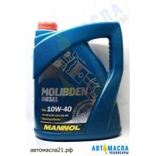 Масло моторное Mannol Molibden Diesel 10w40  5л