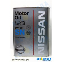 Масло моторное NISSAN Strong SAVE X 5W 30  синт 4л