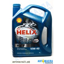 Масло моторное Shell Helix Plus HX7 10W-40 п/с 4л