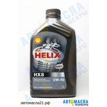 Масло моторное Shell Helix Plus HX8 5W-40 синт 1л