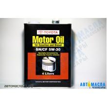 Масло моторное TOYOTA Motor Japan синтетическое 5w30 (SN/CF) 4л