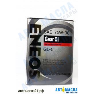 Масло трансмиссионное ENEOS GEAR 75w90 GL-5 п/с 4л